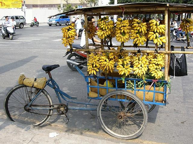 stánek s banány