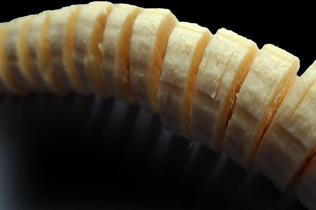 kolečka banánu
