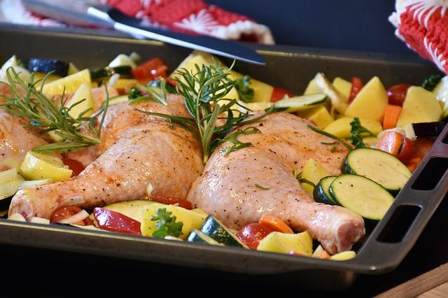 kuře a zelenina
