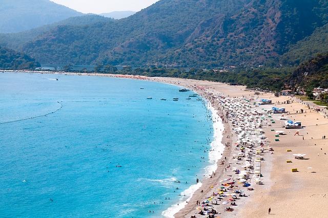 turecká pláž