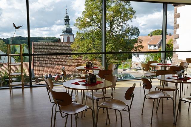 restaurace s pěkným výhledem