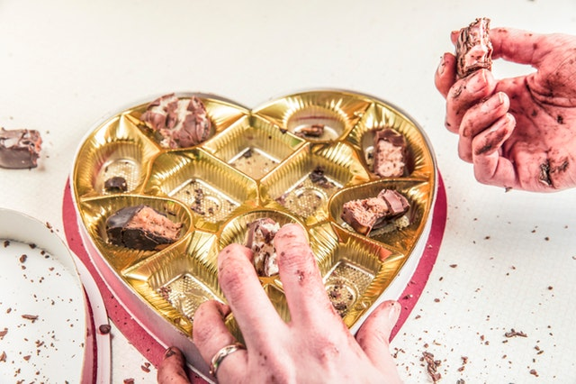 bonboniéra, chuť na sladké, čokoláda
